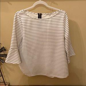 Women's Quarter Sleeve Stripe Top
